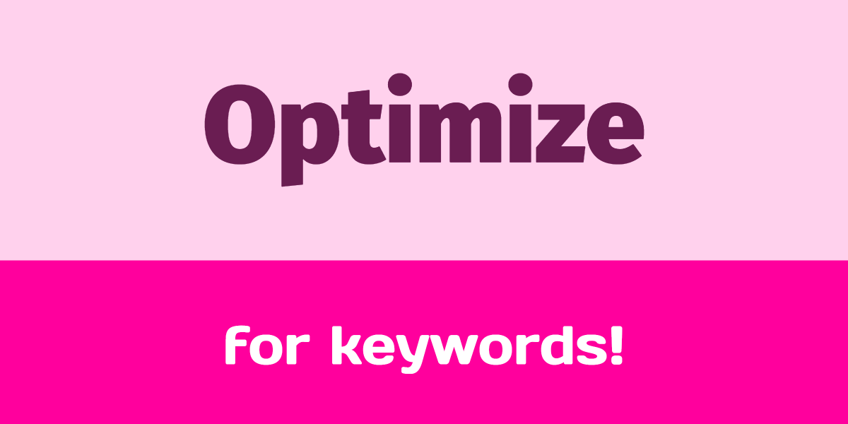 how to optimize your post for a keyword